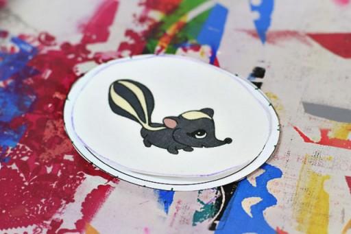 Applique Tutorial (skunk applique) via lilblueboo.com