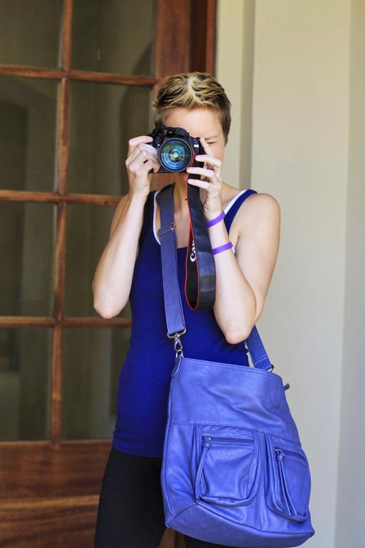 The Epiphanie Lyric Camera Bag in Slate (backup camera) via lilblueboo.com