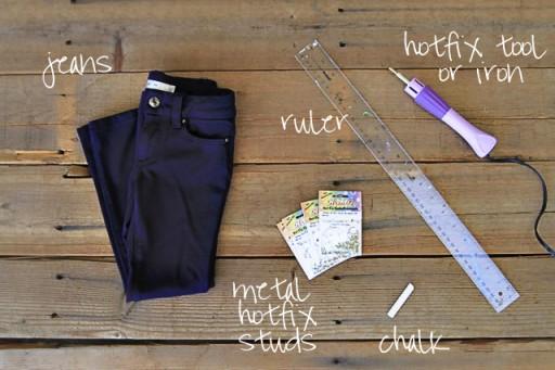 Adding Studs to Clothing Tutorial via lilblueboo.com