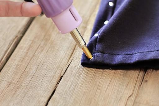 Adding Studs to Clothing Tutorial (Hot Fix Tool) via lilblueboo.com