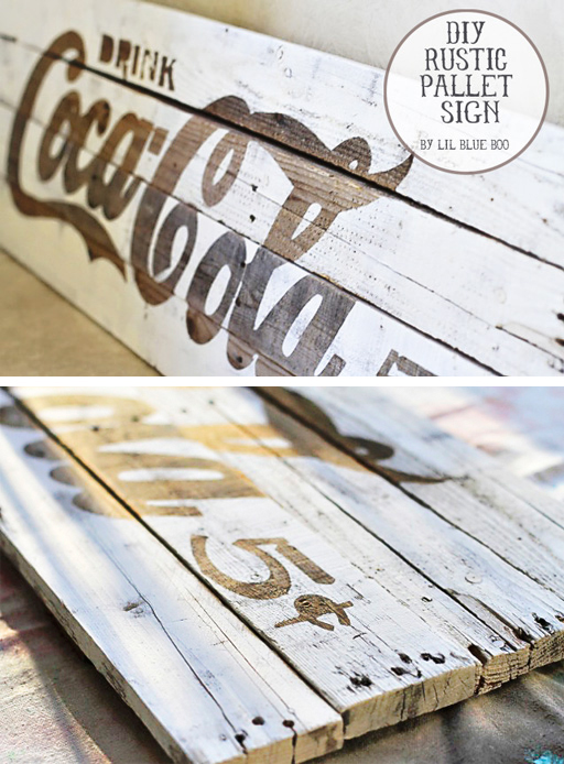 How to Make a DIY Rustic Palette / Pallet Sign via lilblueboo.com