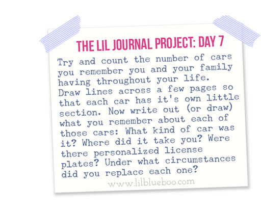 The Lil Journal Project | Day 7 via lilblueboo.com