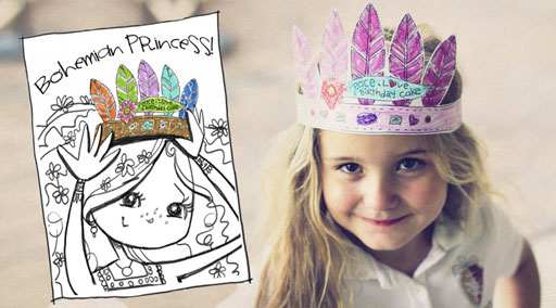 Bohemian Princess Crown Download by Stephanie Corfee via lilblueboo.com