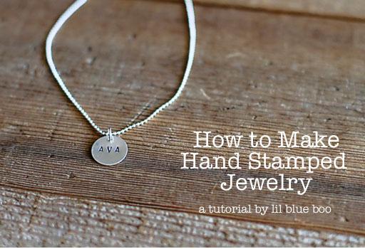 How to Stamp Jewelry via lilblueboo.com
