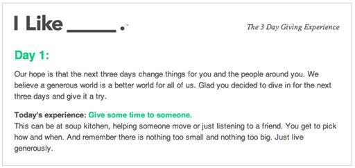 I like Giving (Live Generously) via lilblueboo.com