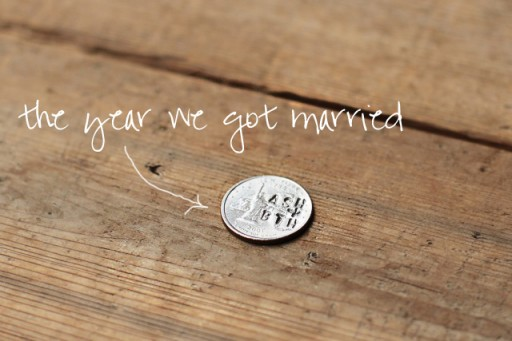 Coin Accessory Tutorial (Stamped Wedding Date into Coin) via lilblueboo.com