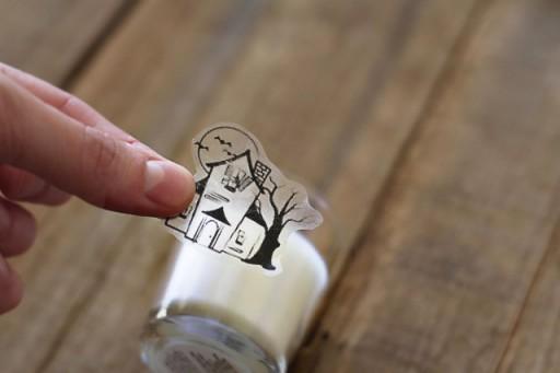 Tape Transfer as Glass Cling via lilblueboo.com
