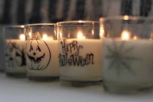 How to make Halloween Votives via lilblueboo.com
