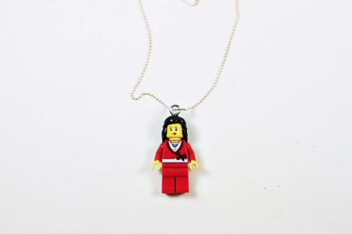 How to make a Lego Necklace via lilblueboo.com