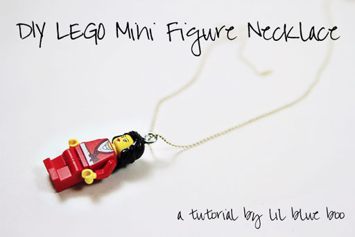 DIY Lego Mini Figure Necklace via lilblueboo.com