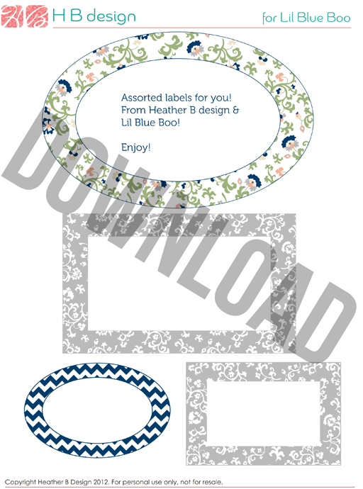 Free assorted printable labels made to match home management binder (neutral set) by Heather B Design via lilblueboo.com