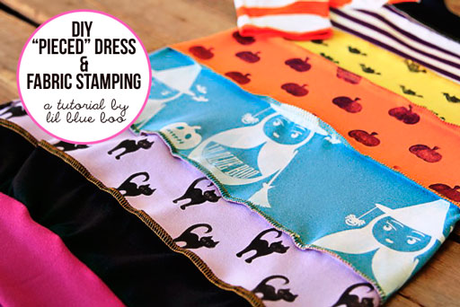 diy pieced dress tutorial via lilblueboo.com