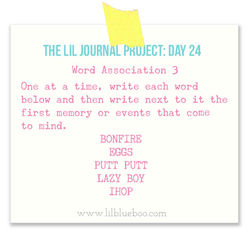 The Lil Journal Project Day 24 via lilblueboo.com