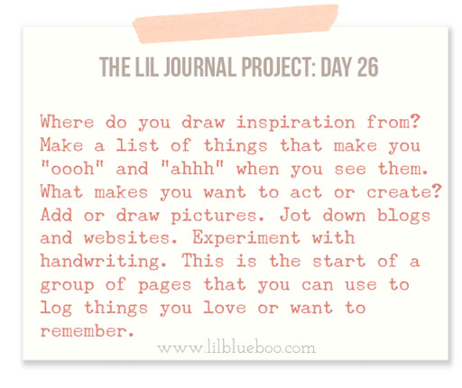 The Lil Journal Project Day 26 via lilblueboo.com