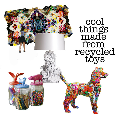 Cool Things Made From Recycled Toys via lilblueboo.com
