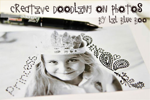 Creative Doodling on Photos via lilblueboo.com #artjournaling #scrapbooking #theliljournalproject
