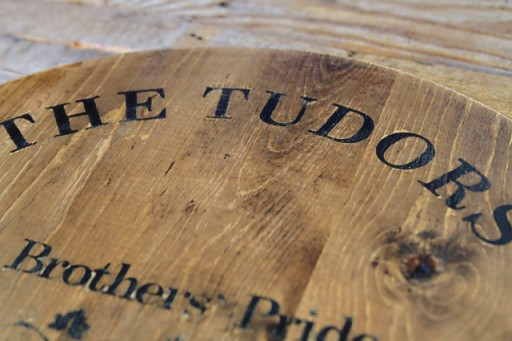 Personalized Wedding Gift Ideas: wine barrel inspired tray via lilblueboo.com