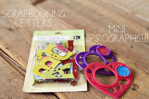 99 cent store finds: letters and spirograph via lilblueboo.com