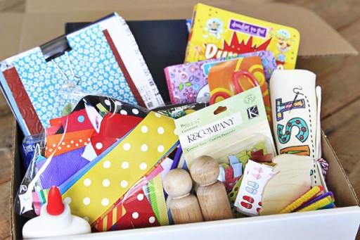Stock a craft box for a kid via lilblueboo.com