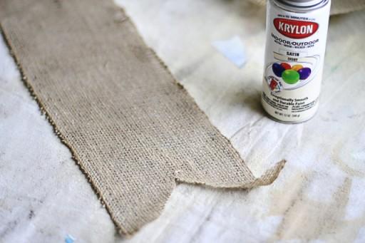How to keep burlap from shedding via lilblueboo.com