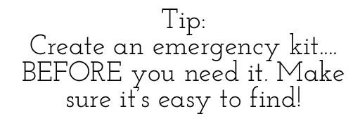 How To Make an Emergency Kit via lilblueboo.com