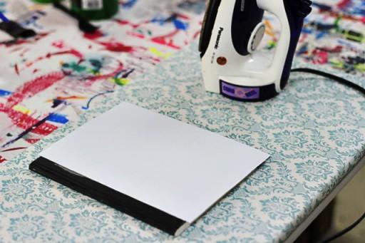 How to Make a Journal Using T-Shirt Transfer Paper via lilblueboo.com