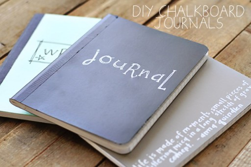 DIY Chalkboard Journal via lilblueboo.com