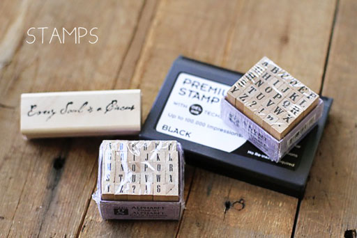 Stamps in the Art Journaling Starter Kit via lilblueboo.com