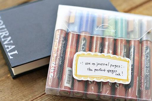 DIY Chalkboard Journal (Chalk Ink) Labels by Stephanie Corfee via lilblueboo.com