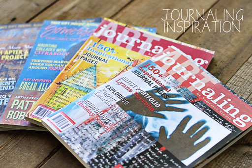 Art Journaling Inspiration by Somerset Studio via lilblueboo.com
