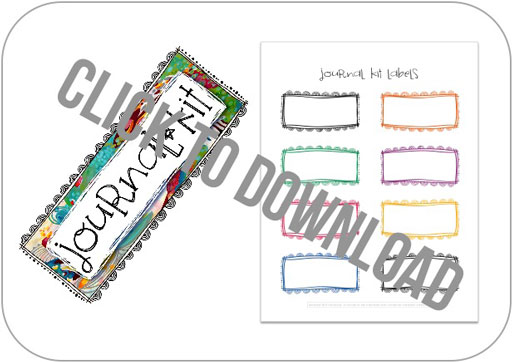 Free Journal Kit Download and Labels by Stephanie Corfee via lilblueboo.com