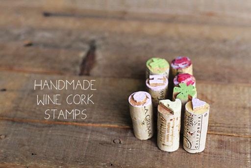 How to Make Wine Cork Stamps via lilblueboo.com