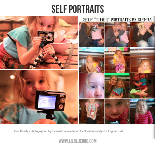 Photo book ideas: Self Portraits via lilblueboo.com