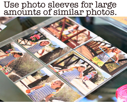 Tips for organizing photos from photo shoots into albums via lilblueboo.com