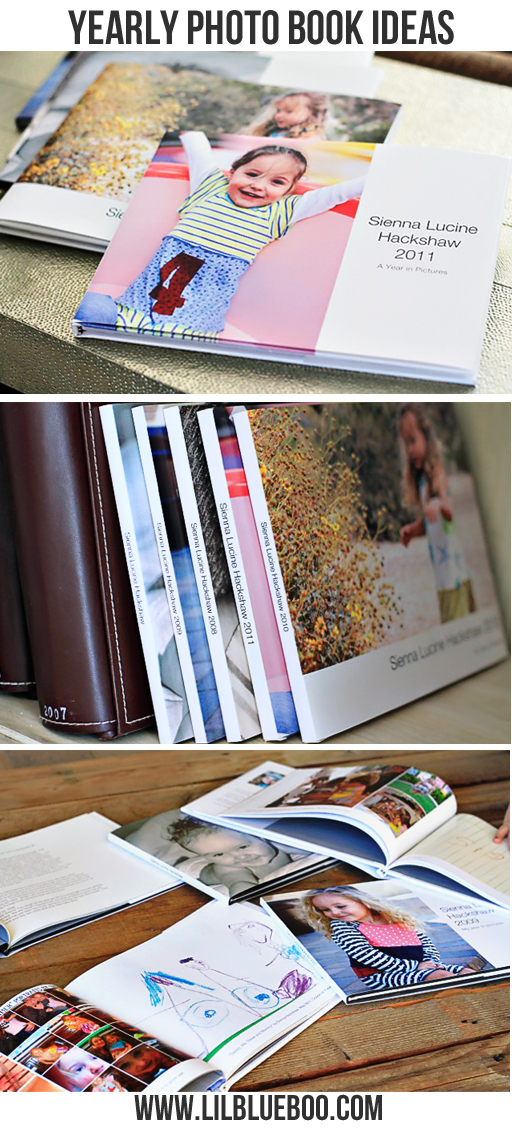 Creative Yearly Photo Book Ideas via lilblueboo.com