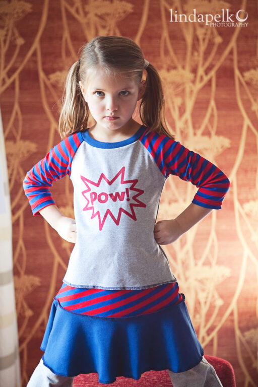 Super Hero in Training Layering Dress at lilblueboo.com