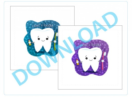 Two colors: tooth fairy pillow free printable download by Stephanie Corfee via lilblueboo.com