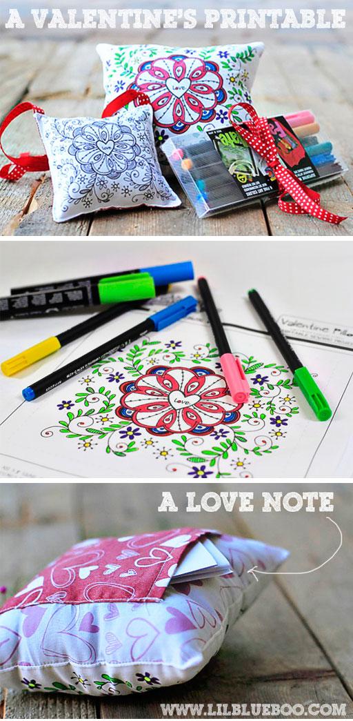 A Valentine's Printable Pillow by Stephanie Corfee via lilblueboo.com
