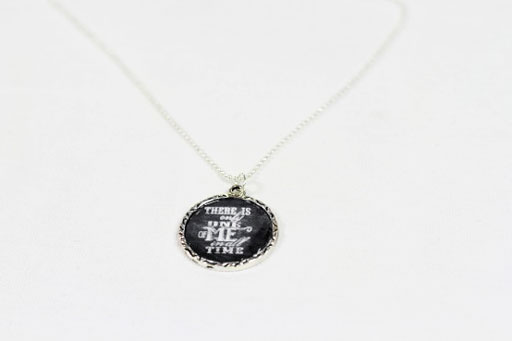 Finished Pendant: How to Make Chalkboard Necklaces (with Chalkboard Download) via lilblueboo.com