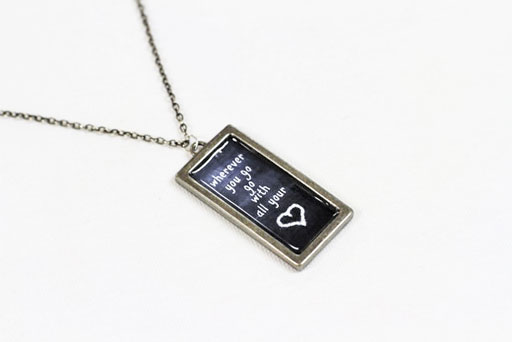 The Process 6: How to Make Chalkboard Necklaces (with Chalkboard Download) via lilblueboo.com