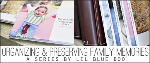 organizing and preserving family memories via lilblueboo.com