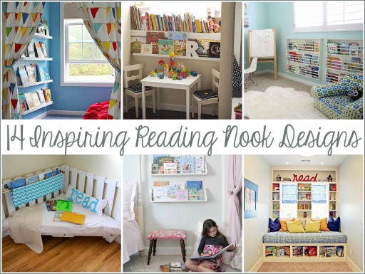 14 inspiring reading nook and corner designs for kids via lilblueboo.com