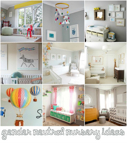 Gender Neutral Nursery Decor Ideas via lilblueboo.com