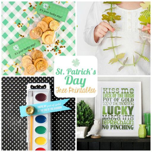 St. Patrick's Day Free Printables via lilblueboo.com