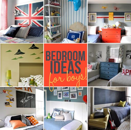 boys bedroom decor ideas via lilblueboo.com