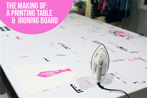 How to Make a printing or silk screening table (and over-sized ironing board!) via lilblueboo.com