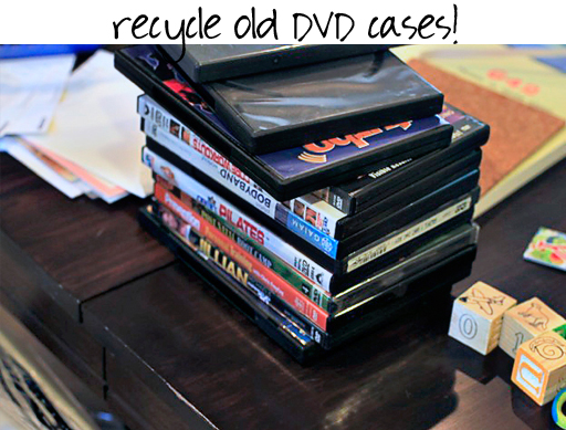 recycle dvd covers via lilblueboo.com