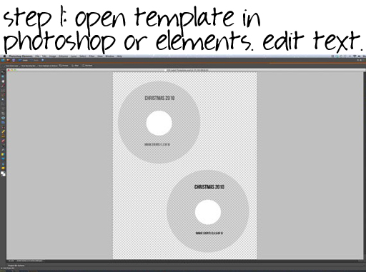 how to make a CD or DVD label in Photoshop via lilblueboo.com