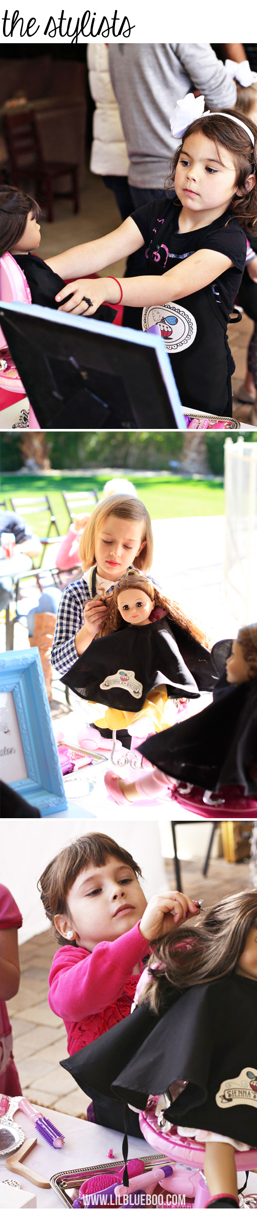 Stylist Party (American Girl Sized Salon)  via lilblueboo.com #americangirl #party #diy
