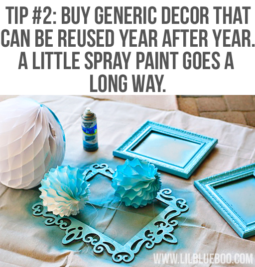 Reuse Decor: Lil Blue Boo's Top 10 DIY Party Tips and Behind the Scenes via lilblueboo.com